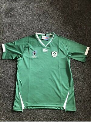 Ireland Rugby Shirt 2019 Rugby World Cup Japan Green Size M