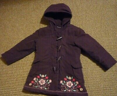 Blue Zoo Debenhams Girls Coat age 5yrs  with Embroidered Flowers