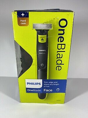 Philips OneBlade Wet & Dry Fast-Moving Cut Electric Shaver 3 Comb + Case New