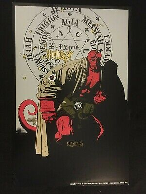 HELLBOY by Mike Mignola 1993 Poster, Signed by Mike Mignola