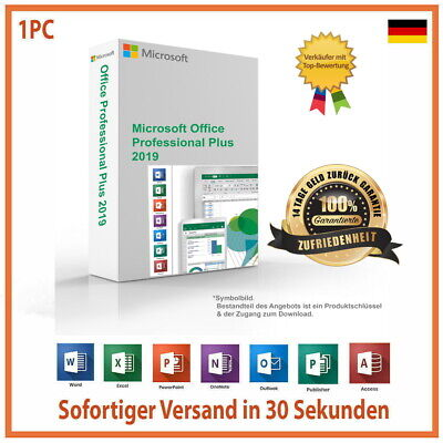 ✔Microsoft Office 2019 Professional Plus Vollversion Software✔Key+Download✔
