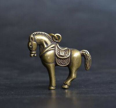 Collection archaize brass horses pen container crafts statue