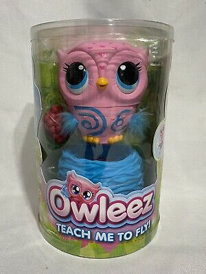 Owleez Flying Baby Owl Interactive Toy with Lights & Sounds Pink-NEW-Fast Ship