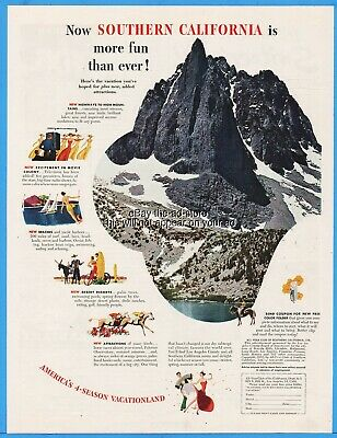 1951 Southern California Mountains Television Movies Beaches Desert Resorts Ad