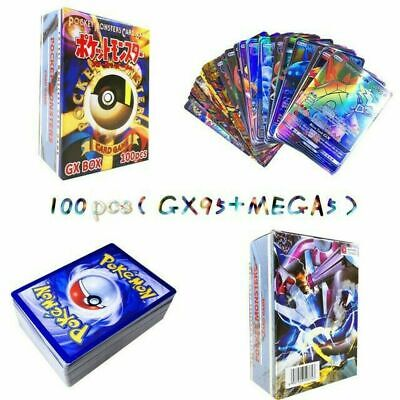 100 Pokemon Card Lot OFFICIAL TCG Cards Ultra Rare Included - GX EX MEGA + HOLOS