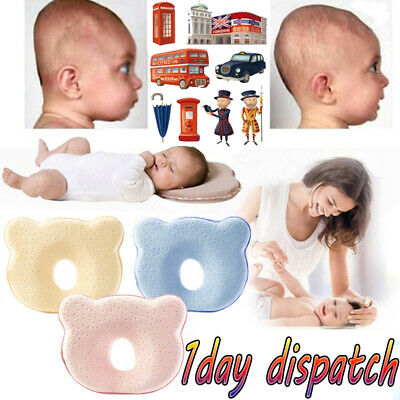UKTOP Baby Cot Pillow Infant Anti Flat Head Cushion for Crib Bed Neck-Support