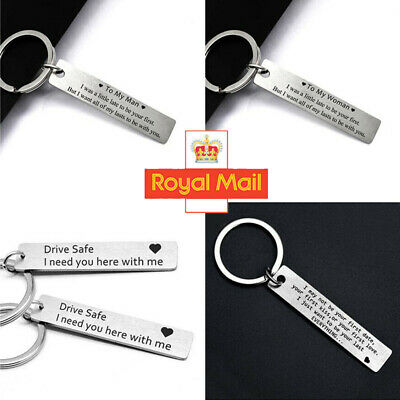 To My Men Women Keyring Special Gift For Her Him Couple Husband Key Ring UK