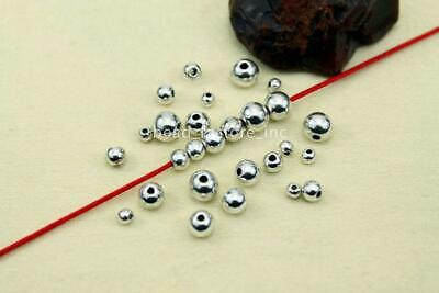Metal Spacer beads Wholesale Smooth Round Ball End Seed Beads 3-8mm 100Pcs