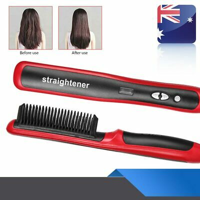Mens Beard Curling Straightener Brush Hair Comb Straightening Show Quick 2019