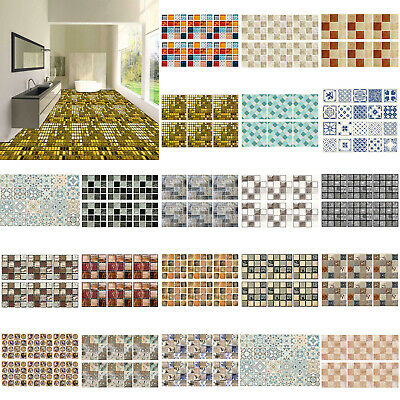 Household Mosaic Stick On Self Adhesive Wall Tile Sticker Kitchen Bath HomeDecor