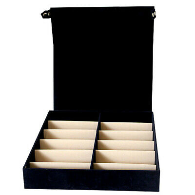 12 Grid Sunglasses With Lid Storage Box Organizer Collector Display Case Watch