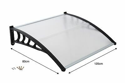 Front Door Canopy Porch Rain Protector Awning Lean-To Roof Shelter 80 X 120cm