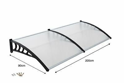 Front Door Canopy Porch Rain Protector Awning Lean-To Roof Shelter 90 X 200cm