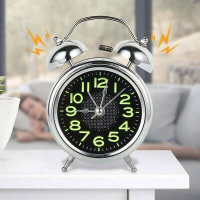 Retro Loud Double Bell Mechanical Key Wound Alarm Clock Xmas Birthday Kid Gift