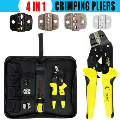 4IN1 PRO Ratchet Crimper Plier Crimping Tool Cable Wire Electrical Kit Set