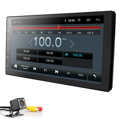 Android 9.0 Double 2 Din Car Stereo GPS Navigation BT Built-in DSP+Backup Camera