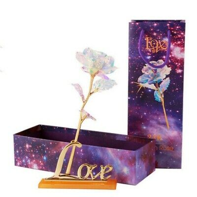 24K Gold Plated Galaxy Rose Valentine's Day Birthday Girlfriend Romantic Gifts