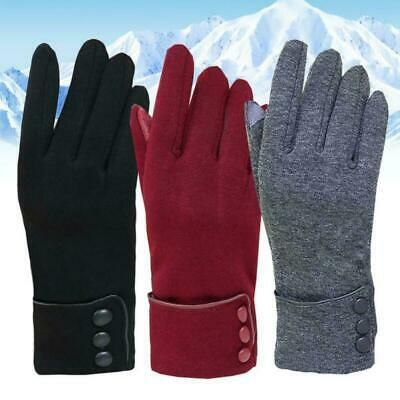 Women Solid Color Winter Touch Screen Autumn Warm Gloves Full Fingers Mittens