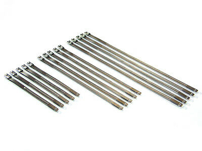 Cable Zip Ties Ideal for Motorbike Car - Heat Resistant Polished Metal