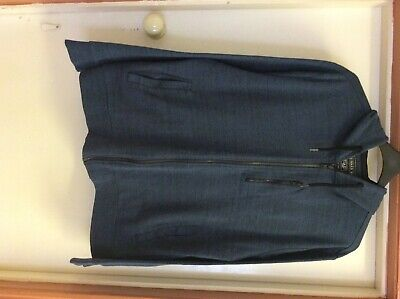 Mens F and F Blue/Black Zipped Hoodie. Size XL.