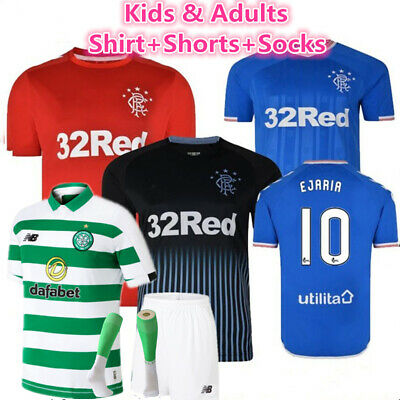 Youth Football Kit Kids Adults Custom Soccer Sports Jersey Strips Christmas Gift