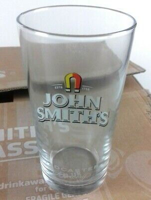 24 x Brand New John Smiths Beer Ale Pint Glasses in Box Breweriana Advertising