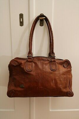 The Bridge - Henkeltasche - Bowling Bag - Cognac Braun - Rindsleder