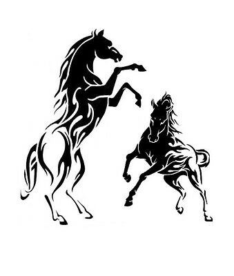 high detail airbrush stencil two wild horses   FREE UK  POSTAGE