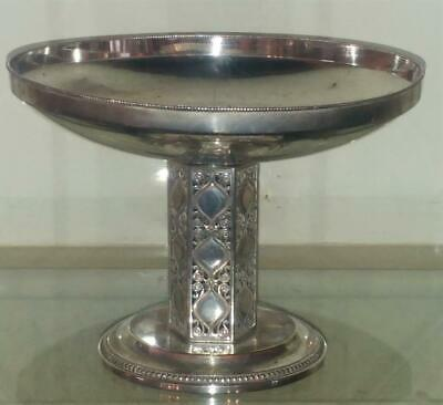 Stunning Arts and Crafts WMF Silver Plated Filigree Pedestal Bowl C 1880+