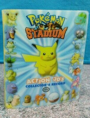 Pokemon Stadium Action 3D's Collector's Record 52 Cards