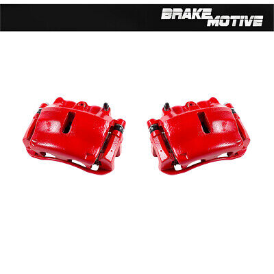 For 2004-2011 Ford Mark LT 2 Rear Red Brake Calipers Lincoln F-150