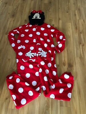 LADIES/GIRLS MINNIE MOUSE ALL IN ONE SIZE MEDIUM Red with white spots