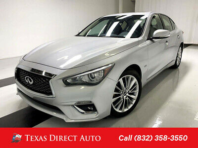 2018 Infiniti Q50 3.0t LUXE Texas Direct Auto 2018 3.0t LUXE Used Turbo 3L V6 24V Automatic RWD Sedan