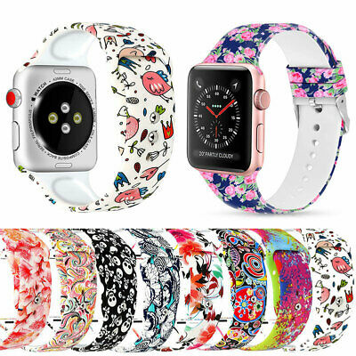 For Apple Watch Series 5 4 3 2 1 Silicone Band Strap bracelet 44/40mm 42/38mm