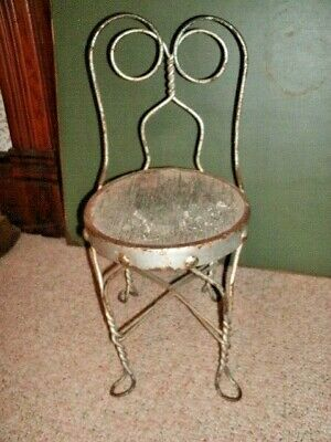 """Antique CHAIR . Child Size.  Soda Fountain / """"Coke"""" Style.  22 inches Tall."""
