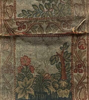 3 Fragments Beautiful Antique/Vintage Wide Arts & Crafts Tapestry Border 497