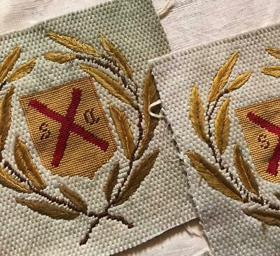 2 PIECES 19th CENTURY VICTORIAN BERLIN WOOLWORK NEEDLEWORK, PROJECTS REF 496