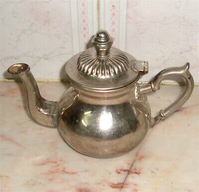 Vintage Moroccan teapot silver-plated Engraved Authentic Handmade Medium size