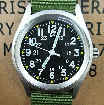 Vietnam War Watch 1968 Issue Mil-W-46374A Military Industries Usa In Issue Box