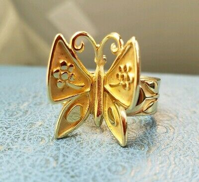 James Avery Retired 14k Mariposa Sz7.75 Worn 5 Times Mint Condition