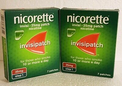 2x7=14 Nicorret Invisible 25mg Patches ☆☆☆£10☆☆☆