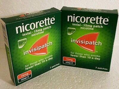 2x7=14 Nicorret Invisible 15mg Patches, long expiry 03/2021☆☆£10☆☆
