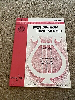 First  Division Band Method (Cornet/Trumpet) B Flat Trumpet 1962 Vintage