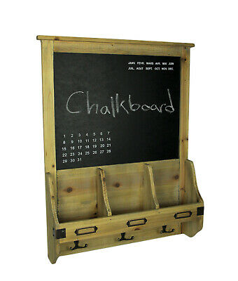 Scratch & Dent Rustic French Farmhouse Style Wood Chalkboard Mail Organizer