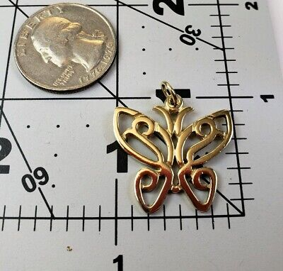 "James Avery Retired 14k Larger Lace Butterfly Pendant 1"" Version Rare Size"