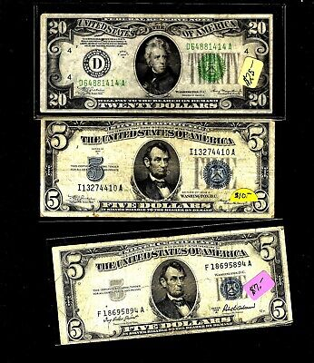 7 different small size notes    consist of older notes