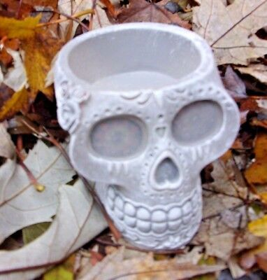 "Latex skull candle holder mold Day of Dead mould 2""H x 2""W x 3""L"