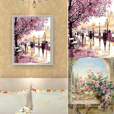 Paint By Number Oil Painting Set Home Art Frameless DIY Canvas Decorative Office