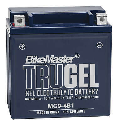 TruGel MC & Scooter Gel Battery Replaces YB9-B, 12N9-4B- - MC & Scooter
