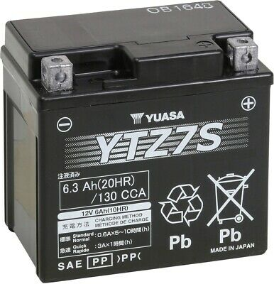 AGM Maintenance Free Battery YTZ7S Yuasa YUAM727ZS - ATV / SxS & MC & Scooter
